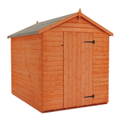 Medium sized brown garden shed