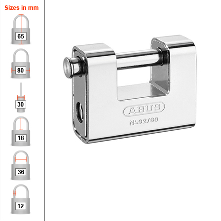 Abus 92/80 Container Padlock - 80mm