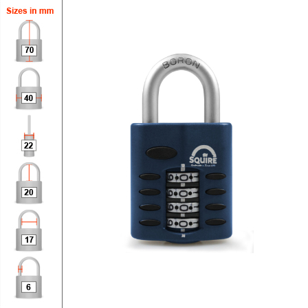 Squire CP40 Combination Padlock