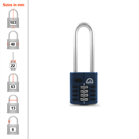 Squire CP40 2.5 Combination Padlock