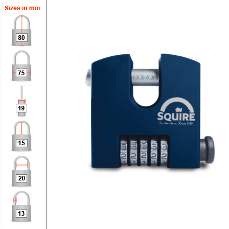 Squire SHCB75 Combination Padlock - 75mm