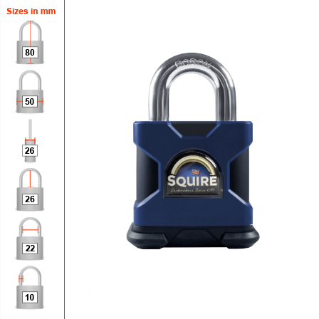 Squire SS50S High Security Padlock - 50mm