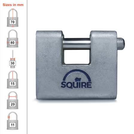 Squire ASWL2 Container Padlock - 80mm
