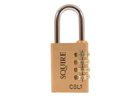 Squire CSL1 Brass Combination Padlock