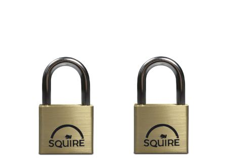 Squire LN4 Brass Padlock - Twin Set
